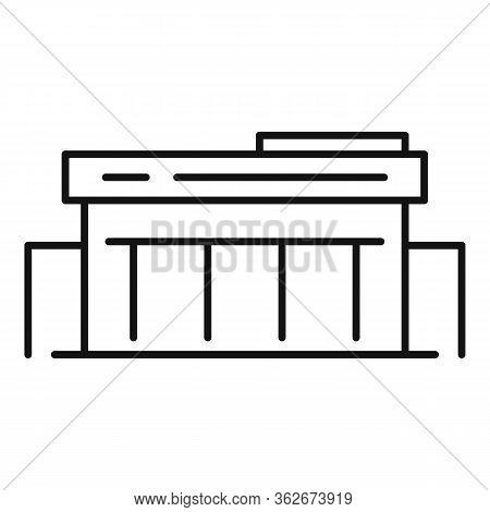 Retail Exhibition Center Icon. Outline Retail Exhibition Center Vector Icon For Web Design Isolated