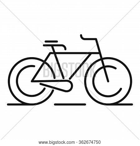 Bike Rent Transport Icon. Outline Bike Rent Transport Vector Icon For Web Design Isolated On White B