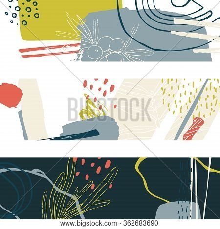 Vector Abstract Composition. Colorful Design For Posters, Covers And Headers. Modern Design Colored