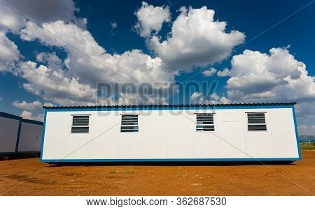 Relocatable Portable Buildings Used As Prefabricated Offices On Building Sites And Other Amenities