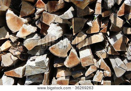 Chopped Wood Close-up