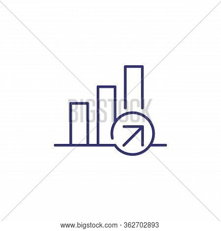 Growth Line Icon. Bar Diagram, Graph, Chart. Analysis Concept. Can Be Used For Topics Like Business,