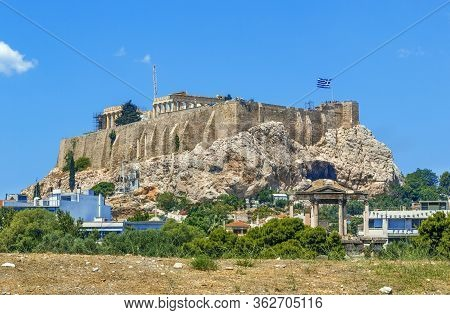 The Acropolis Of Athens Is An Ancient Citadel Located On A High Rocky Outcrop Above The City Of Athe