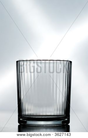 An Empty Crystal Glass