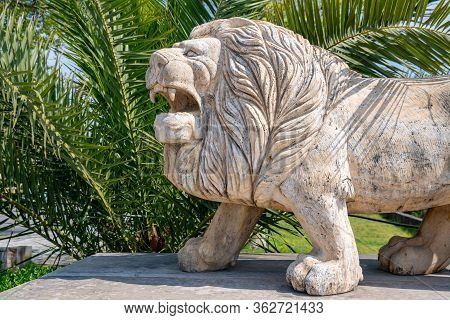 Sculpture Of A Lion In Little Town Of Poti