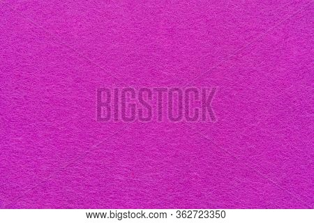 High Resolution Close Up Of Bright Pink Felt Fabric Texture Of Rough Fleecy Fabric Of Pink Color For