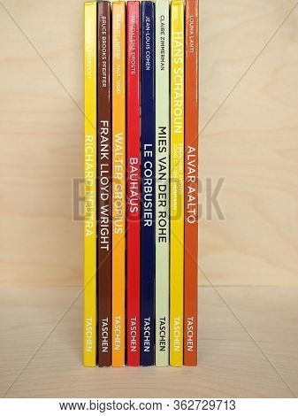 Koeln, Germany - Circa 2020: Taschen Basic Architecture Series Books About Modern Architects Includi