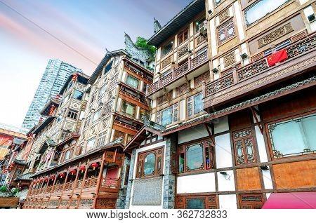 Hongyadong, A Classical Building In Chongqing, China