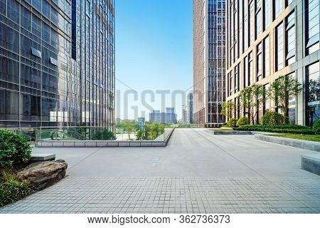 Square And Modern Architecture, Jinan City Landscape In China.