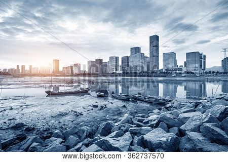 Modern City Skyline And Inclusion Of Fuzhou, China