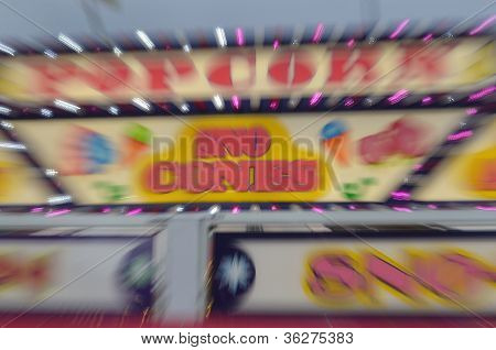 Carnival Sign Blur