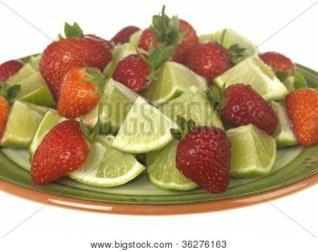 Strawberries with Limes