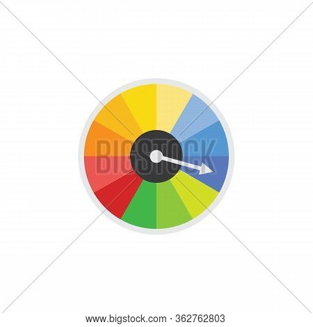 Icon Of Speedometer Or Speed Dial, Power Indicator Vector Illustration Isolated.