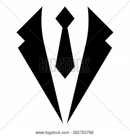 Business Concept Jacket And Tie Cravat Suit For Wedding Mens Clothing In Dress Clothes Representativ