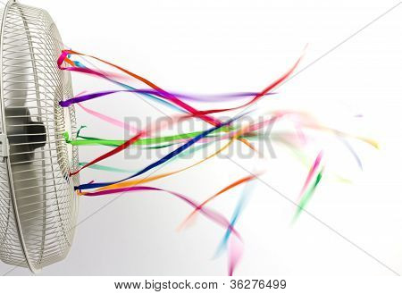 Ribbons On A Fan