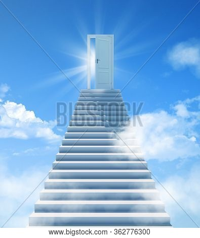 Stairway To Heaven. The Stairs At The End Are The Doors To Success. Door Of Paradise, Meeting With G