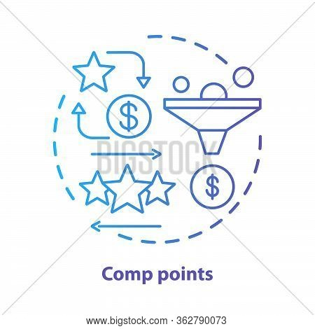 Casino Comp Points Concept Icon. Redeem Points And Bonuses Idea Thin Line Illustration. Cashback And