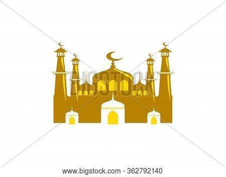 Mosque Icon Isolated On White Background, Mosque Icon Vector Image, Mosque Icon Trendy, And Modern M