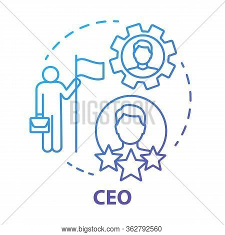 Ceo Concept Icon. Chief Executive, Boss, Top Manager Idea Thin Line Illustration. Leadership, Career