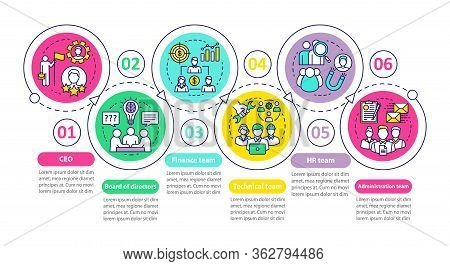 Company Staff Vector Infographic Template. Ceo, Board Of Directors. Business Presentation Design Ele