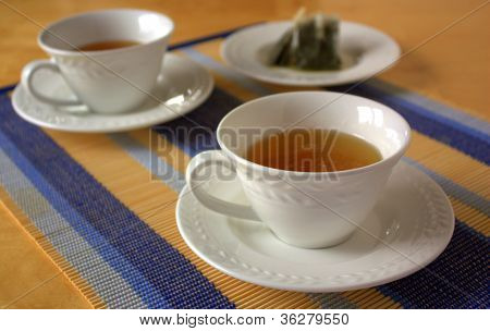 two teacups with teabags
