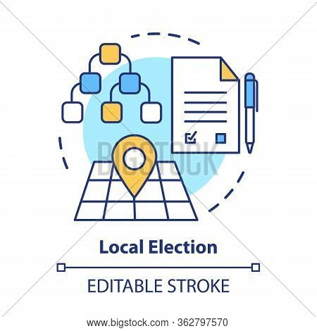 Elections Concept Icon. Local Election Idea Thin Line Illustration. Voting, Choosing From Political