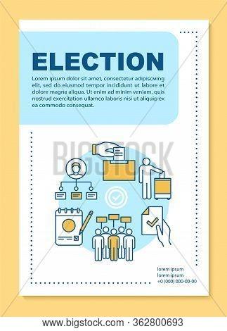 Election Brochure Template Layout. Holding Voting. Voter Turnout. Flyer, Booklet, Leaflet Print Desi