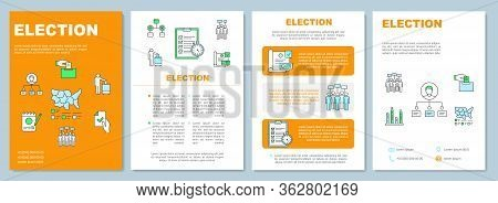 Election Brochure Template Layout. Citizens Ballot. Flyer, Booklet, Leaflet Print Design, Linear Ill
