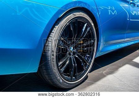 Bmw M5 Competition Wheel, Michelin Tire.bmw Welt, Munich, Germany, March 2020.
