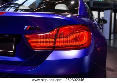 Bmw M4 Rear Light. Bmw Welt, Munich, Germany, March 2020