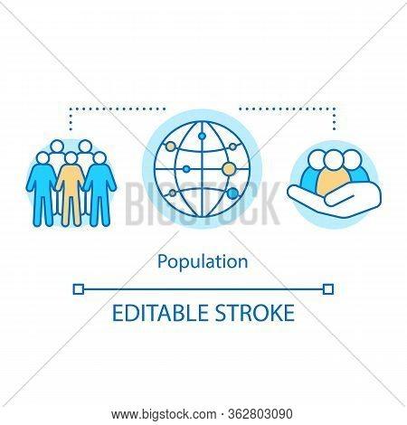 Electorate Concept Icon. Population Idea Thin Line Illustration. Society, Community. National Human