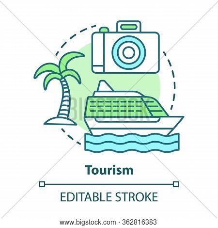 Tourism Concept Icon. Hospitality Industry Idea Thin Line Illustration. Journey And Travel. Touristi