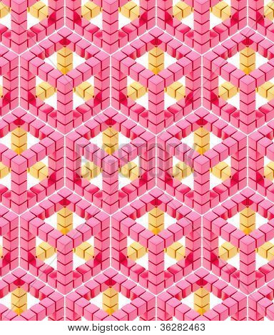 Seamless hexagon cube background texture abstract backdrop poster