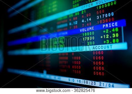 Stock Exchange Market Business Concept With Selective Focus Effect.