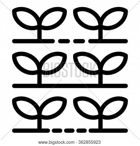 Garden Plants Producer Icon. Outline Garden Plants Producer Vector Icon For Web Design Isolated On W