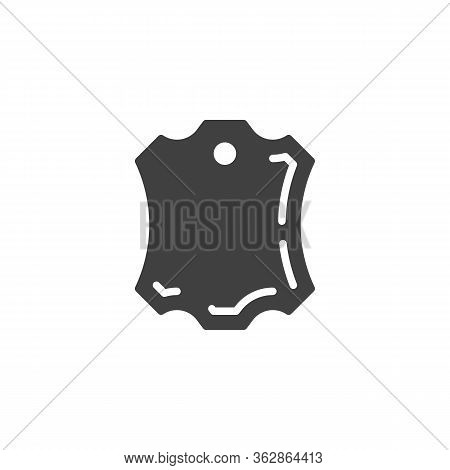 Leather Piece Vector Icon. Filled Flat Sign For Mobile Concept And Web Design. Leather Badge Glyph I