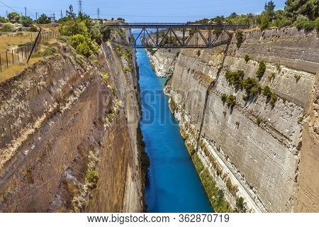 The Corinth Canal Is A Canal That Connects The Gulf Of Corinth With The Saronic Gulf In The Aegean S