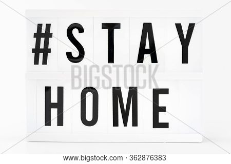 Stay At Home Write With Letters On White