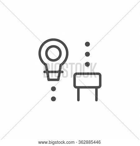 Wine Bung Line Outline Icon Isolated On White. Object For Close Open Bottle. Stopper. Vector Illustr