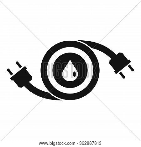 Hybrid Car Fuel Icon. Simple Illustration Of Hybrid Car Fuel Vector Icon For Web Design Isolated On