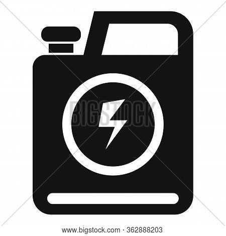 Energy Car Canister Icon. Simple Illustration Of Energy Car Canister Vector Icon For Web Design Isol