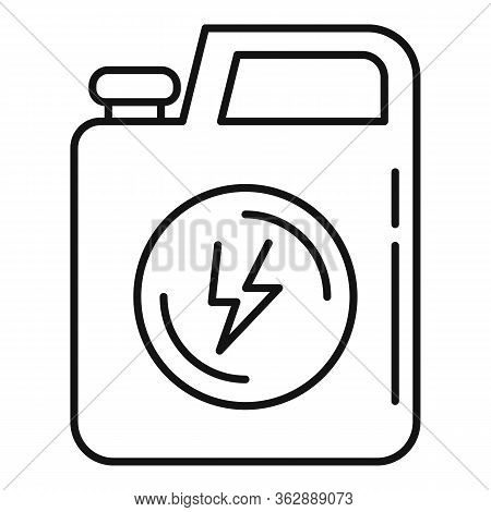 Energy Car Canister Icon. Outline Energy Car Canister Vector Icon For Web Design Isolated On White B