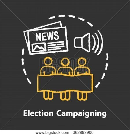 Elections Chalk Concept Icon. Election Campaigning Idea. Political Presidential Race, Propaganda. El