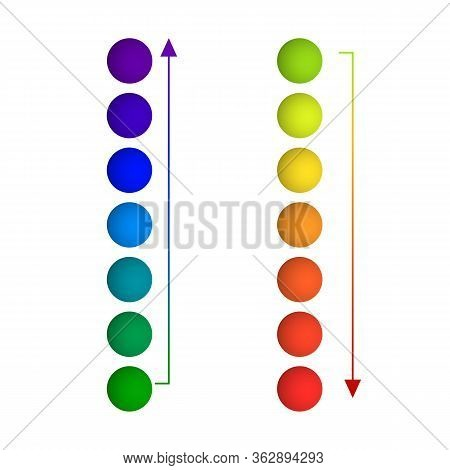 Vector Gaphic Design Elements Isoalted On White Background, Rainbow Gradient Colors, Circle Shapes,