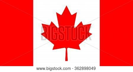 Legendary Mapple Leaf On Flag Of Canada