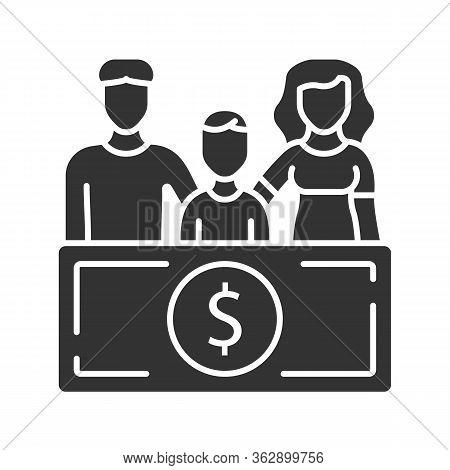 Family Sponsorship Immigration Glyph Icon. Migration Program. Express Entry. Family Trip. Permanent