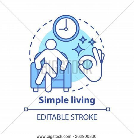 Simple Living Concept Icon. Reducing Personal Possessions Idea Thin Line Illustration. Increasing Se