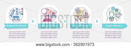 Occupational Lifestyle Types Vector Infographic Template. Business Presentation Design Elements. Dat
