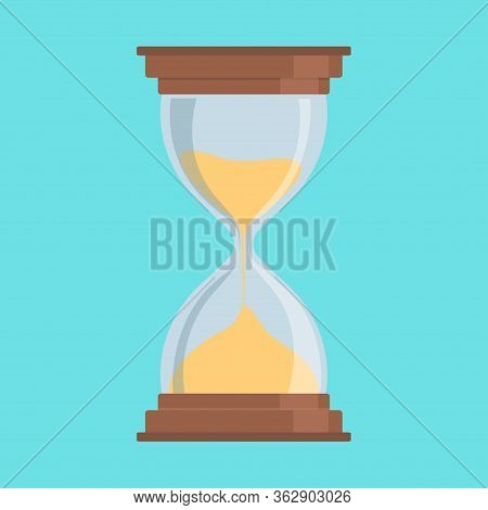 Hourglass Icon. Hourglass As A Concept Of Observing Time. Modern, Simple Vector Illustration.