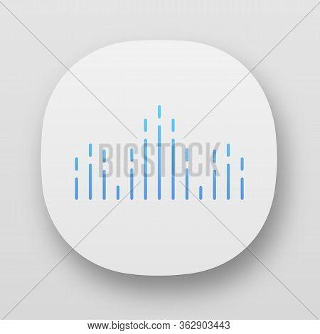 Dj Soundwave App Icon. Ui Ux User Interface. Audio, Sound Wave. Music Rhythm. Disco, Party Logotype